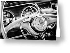 1941 Lincoln Continental Coupe Steering Wheel Emblem -0858c Greeting Card