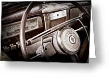 1941 Packard Steering Wheel Emblem Greeting Card