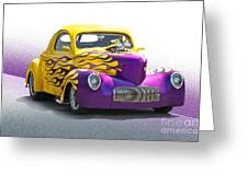 1941 Willys 'pro Street' Coupe Greeting Card