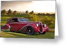 1947 Delahaye 135m Pennock Cabriolet Greeting Card