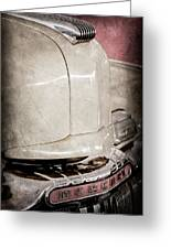 1947 Mercury Convertible Hood Ornament - Emblem Greeting Card