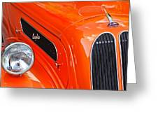 1948 Anglia 2-door Sedan Grille Emblem Greeting Card