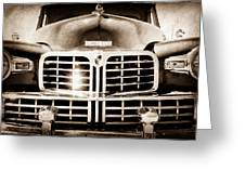 1948 Lincoln Continental Grille Emblem Greeting Card