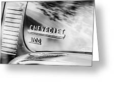 1949 Chevrolet 3100 Pickup Truck Emblem Greeting Card