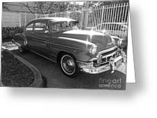 1949 Chevy Greeting Card by Andres LaBrada