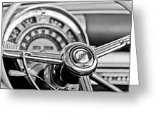 1949 Chrysler Town And Country Convertible Steering Wheel Emblem Greeting Card