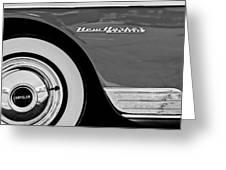 1950 Chrysler New Yorker Coupe Wheel Emblem Greeting Card
