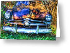 1950 Ford To Be Reconditioned Greeting Card