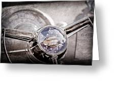 1950 Oldsmobile Rocket 88 Steering Wheel Emblem Greeting Card