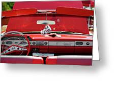1950s Chevrolet Impala Detail Greeting Card