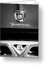 1950's Ford F-100 Pickup Truck Grille Emblems Greeting Card
