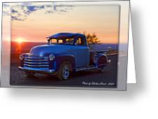 1951 Chevy Pick Up Greeting Card