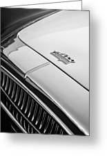 1952 Cunningham C-3 Coupe Hood Emblem Greeting Card