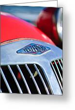 1952 Frazer-nash Le Mans Replica Mkii Competition Model Grille Emblem Greeting Card