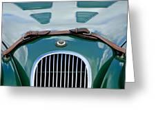 1952 Jaguar Xk 120 John May Speciale Grille Emblem Greeting Card