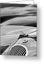 1952 Jaguar Xk 120 John May Speciale Hood Emblem Greeting Card