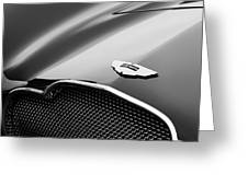 1953 Aston Martin Db2-4 Bertone Roadster Hood Emblem Greeting Card