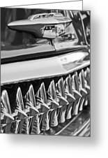 1953 Chevrolet Grille Emblem Greeting Card
