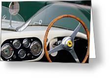 1953 Ferrari 340 Mm Lemans  Spyder Steering Wheel Emblem Greeting Card