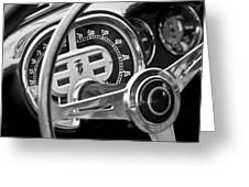 1953 Fiat 8v Ghia Supersonic Steering Wheel Greeting Card
