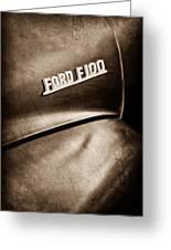 1953 Ford F-100 Pickup Truck Emblem Greeting Card