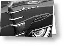 1953 Mercury Monterey Wheel Emblem Greeting Card