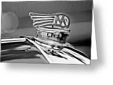 1953 Morgan Plus 4 Le Mans Tt Special Hood Ornament Greeting Card