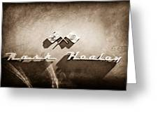 1953 Nash-healey Roadster Emblem Greeting Card