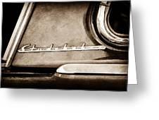1953 Studebaker Champion Starliner Side Emblem Greeting Card