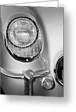 1954 Chevrolet Corvette Headlight Greeting Card