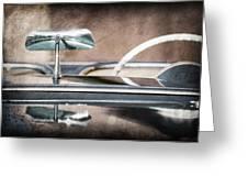 1954 Chevrolet Corvette Rearview Mirror Greeting Card
