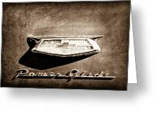 1954 Chevrolet Power Glide Emblem Greeting Card