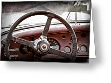 1954 Jaguar Xk120 Roadster Steering Wheel Emblem Greeting Card