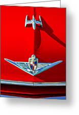1954 Lincoln Capri Hood Ornament Greeting Card