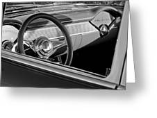 1955 Chevrolet 210 Steering Wheel Greeting Card