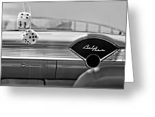 1955 Chevrolet Belair Dashboard Greeting Card
