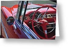 1955 Chevrolet Belair Steering Wheel Greeting Card