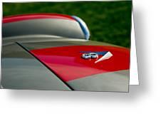 1955 Fiat 8v Zagato Hood Emblem Greeting Card