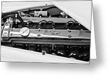 1955 Jaguar Engine Greeting Card