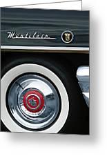 1955 Mercury Montclair Convertible Wheel Emblem Greeting Card