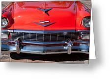 1956 Chevrolet Belair Convertible Custom V8 Greeting Card