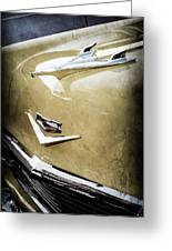 1956 Chevrolet Hood Ornament - Emblem Greeting Card