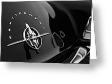 1956 Continental Mark II Coupe Rear Emblem Greeting Card