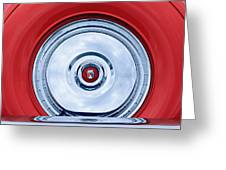 1956 Ford Thunderbird Spare Tire Emblem Greeting Card