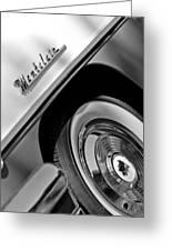1956 Mercury Montclair Wheel Emblem Greeting Card
