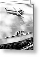 1956 Mercury Monterey Hood Ornament - Emblem Greeting Card