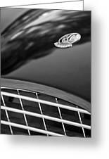 1957 Ac Ace Bristol Roadster Hood Emblem Greeting Card