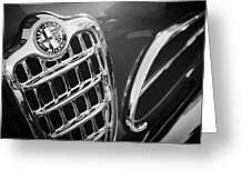 1957 Alfa-romeo 1900c Super Sprint Grille Emblem Greeting Card