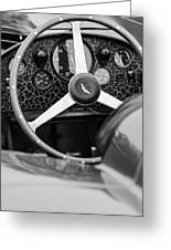 1957 Aston Martin Dbr2 Steering Wheel Greeting Card by Jill Reger