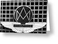 1957 Aston Martin Owner's Club Emblem Greeting Card by Jill Reger